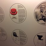 Information about Danish design in the elevator