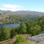 Rydal water from cave