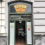 Outside the pizzeria