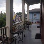 The balcony of the Bourbon room