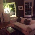 Living room, facing fireplace