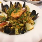 Seafood paella. Absolutely yum! ^^