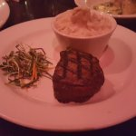 Petite Filet Mignon (medium rare) with mashed garlic potato