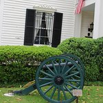Cannon in front of Lotz House.