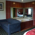 King suite with jetted tub & pull out sofa bed.