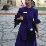 Lily, our knowledgeable and entertaining ghost walk guide.
