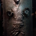 Hans Solo frozen in Carbonite at Star Wars Identities