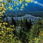 Called Bridge of the Gods. Passes over Columbia river from Washington to Oregon.