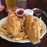 Fried Catfish lunch with fries.