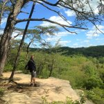 On Conkle's Hollow RIM Trail (scary drop offs!)