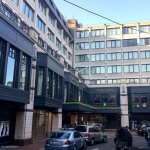 This is the view of the hotel from Balfe Street.