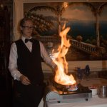 Table side Flambe' by our waitress Lauren
