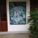 Raelene has shared her wonderful paintings of island scenes, around the rooms and restaurant.
