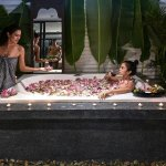 Indulgence yourself in the wonderful floral bath :)