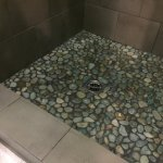 Loved the stone shower floor!