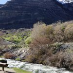 Along Provo river you can stop and rest