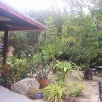 Outdoor courtyard near entrance