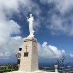 Statue of Jesus at top of Mt. Tapochao