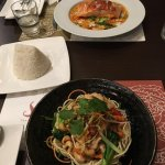 Amazing dishes the Salmon and cashew chicken Siam style