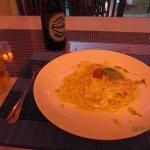 Pasta with a cream sauce