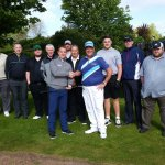 Ian Berry presenting donated gap wedge from Pro Shop