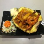 gung aob sapparod/stir fried prawns with cashew nuts & pineapple