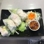 pho phia sod/fresh spring rolls with chicken/rollitos frescos con pollo