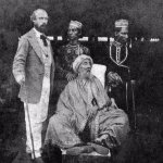 King Zafar n his two sons in the custody of British officer David