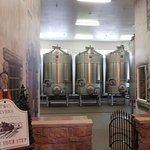 Vats of wine in the making