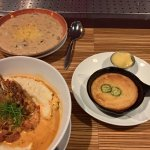 Grits, soup and cornbread