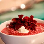 Beetroot and horseradish soup (winter 2016)