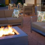 Relax on the outdoor patio