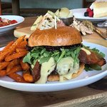 Famous 610 Burger with housemade jam