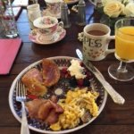 Yes, the homemade french toast was filled with brie and orange marmalade with french pressed cof