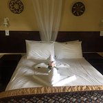 Our gorgeous bed on arrival!