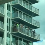 Many decks with packed kids drinking and yelling, loud thumping music