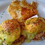 Crab cakes Eggs Benedict - lots of lump crab meat!