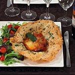 Parmegiana: Aubergine, tomate, parmesan
