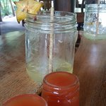 Chile Guaro shots yummy