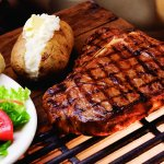 Our t-bone steak is basted with our secret sauce then chargrilled to seal in the juicy flavors.