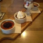 Dessert Sampler - Creme Brule (x2), Chocolate Mouse, Chocolate Brownie