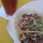 maibock beer and beef tacos