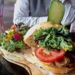 Veggie Burger with portobella mushroom & white truffle