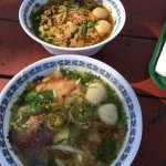 Beef and pork noodle soups
