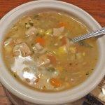 Turkey, veg, rice soup