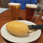 Beer and complimentary bread
