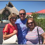 Holly, Jabe and Lynn in front of Rum River Tiki Bar and Grill