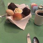 Bread basket, coffee