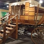 Everyone wants to get inside the stagecoach!