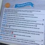 Shraga Cafe - sandwich menu